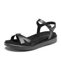 ecco 爱步 2021新款平底沙滩鞋罗马露趾凉鞋女鞋 尤玛857923