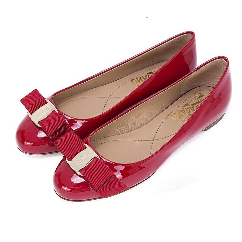 Salvatore Ferragamo 菲拉格慕 01A181-0592125 女士羊皮绗缝皮鞋