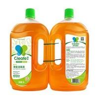 88VIP:Cleafe 净安 净安季铵盐消毒液1L*2+茶花收纳箱58L*3个+凑单品