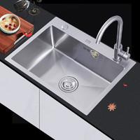 限地区、PLUS会员:OUDINU 欧帝奴 304不锈钢厨房水槽 精选冷热龙头