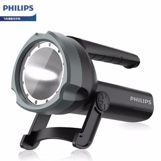 PHILIPS 飞利浦 飞利浦(PHILIPS)手电筒强光远射超亮LED充电式多功能手提探照灯家用户外巡逻矿灯应急灯SFLL3101黑灰色