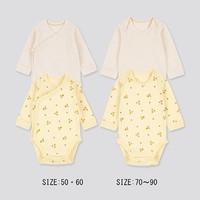 UNIQLO 优衣库  婴儿/新生儿圆领连体装(长袖2件装)
