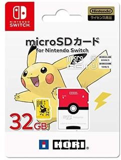 Nintendo 任天堂 口袋妖怪 microSD卡 适用于任天堂 Switch 32GB 皮卡丘