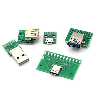 USB转2.0 3.0母座/公头MICRO直插转接板已焊接模块手机电源数据线