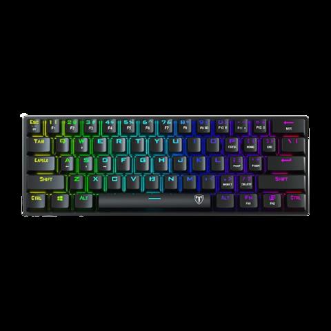 E.T  I61 61键 双模无线机械键盘 黑色 国产黑轴 RGB