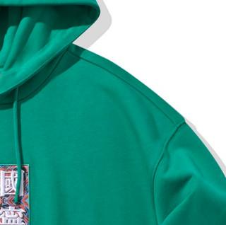 LI-NING 李宁 巴黎时装周系列 中性运动卫衣 AWDQ241-3 青椒绿 XS