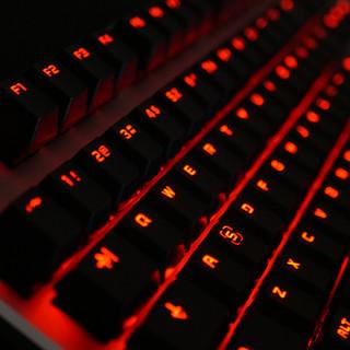 Fühlen 富勒 G87 87键 有线机械键盘 黑色 Cherry茶轴 单光