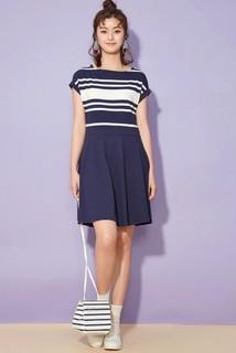 233458 女士条纹连衣裙