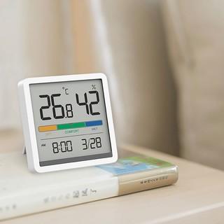 米物 静享温湿度计时钟 白色