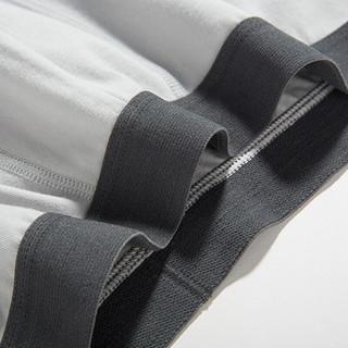 网易严选 内裤男 男士基础平角2条装透气舒适简约经典内裤 深灰+藏青(2条装) M