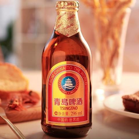 TSINGTAO 青岛啤酒 小麦醇畅饮 296ml*24瓶