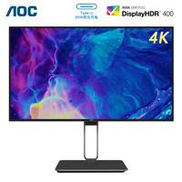 AOC 冠捷 Q27U2 27英寸IPS显示器(4K、82%DCI-P3、Type-C 65W)