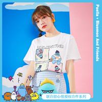 Puella 甜心怪兽联名款 2A11382XTIP032 女士休闲短袖T恤