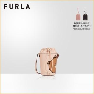 FURLA芙拉LINEFRIENDS 2021春夏新品布朗熊可妮兔迷你水桶斜挎包