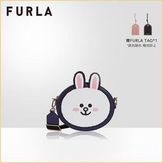 FURLA芙拉LINEFRIENDS2021春夏新品布朗熊可妮兔女士迷你斜挎包
