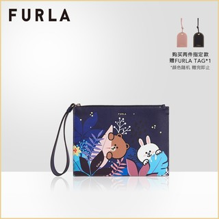 FURLA芙拉LINEFRIENDS 2021春夏新品布朗熊可妮兔女士小号信封包