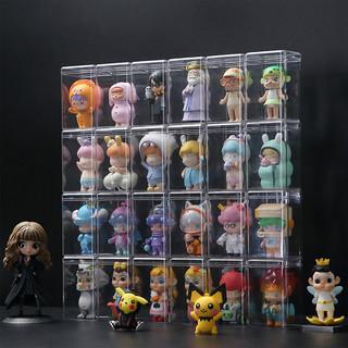 盲盒收纳盒单个泡泡玛特泡马特公仔手办柜娃娃整理架子透明展示架