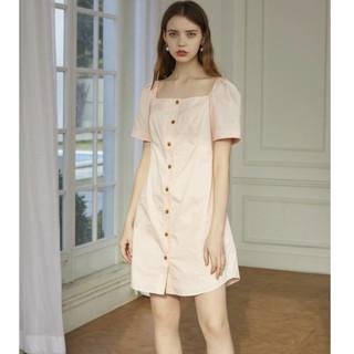VERO MODA 32027B511 法式复古方领连衣裙