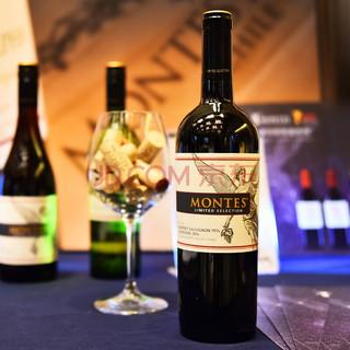 MONTES 蒙特斯 限量精选系列 赤霞珠佳美娜葡萄酒 750ml*6支