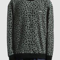 Wacko Maria - Leopard Fleece Crew Neck Sweatshirt | HBX