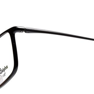 夏蒙Charmant眼镜架配近视男女款全框光学近视防蓝光眼镜GA38008 BK/黑色(镜片升级请联系客服)