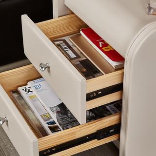 芝华仕 爱蒙床头柜小柜子储物柜床边柜现代简约卧室收纳柜 G003(单拍不发货) 象牙白 30-60天发货