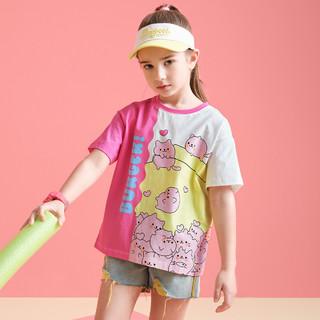 MQD 马骑顿 女大童卡通休闲圆领T恤
