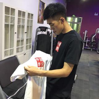 中国李宁男运动时尚夏季短袖T恤 标准黑 M(170)