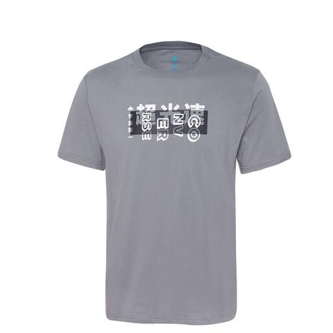 CONVERSE 匡威 男款石灰色LOGO印字舒适透气圆领短袖运动T恤