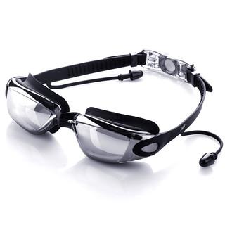 佑游泳镜泳帽男女防水防雾游泳耳塞鼻夹眼镜高清泳镜套装Z6615