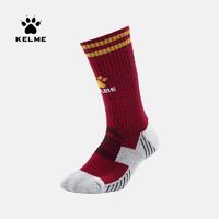KELME卡尔美 足球篮球球袜 中国纪念版系列袜子 红-M
