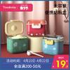 婴儿奶粉盒便携外出密封分装米粉盒子宝宝大容量辅食储存罐式防潮 樱桃红