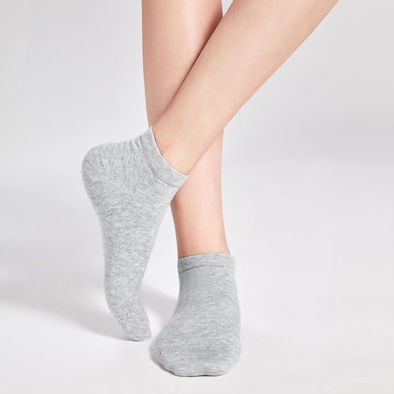 亲肤透爽脚感舒适,女式基础船袜
