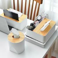 素雅有质感,竹制纸巾盒