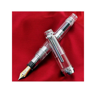 日本SAILOR写乐平顶大型21K钢笔PG天冠金笔双色金尖 11-2036/2037  示范透明银夹 双色尖9237 M +吸墨器