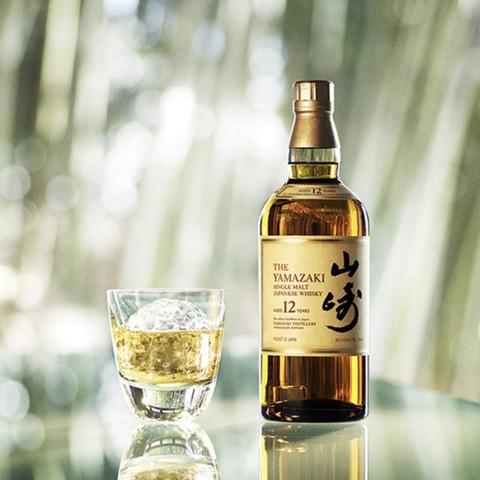 补贴购、限新用户:SUNTORY 三得利 山崎12年 单一麦芽威士忌 700ml