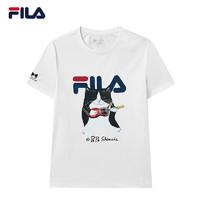 FILA 斐乐 FILA斐乐官方短袖T恤女子2021新款