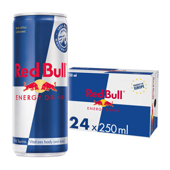 Red Bull 红牛 redbull奥地利进口红牛功能饮料原味250ml*24罐增加免疫力银蓝罐