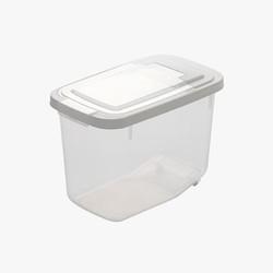 CHAHUA 茶花 透明带盖收纳储米箱 10斤装送量杯