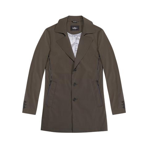 SEVEN 柒牌 经典休闲时尚双口袋外套百搭男士风衣