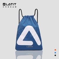 LATIT 抽绳包 运动包 训练健身包束口袋 防水双肩包背包排球足球鞋包收纳袋 均码 蓝色