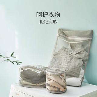 网易严选 粗细网洗衣网袋 粗网款圆筒型