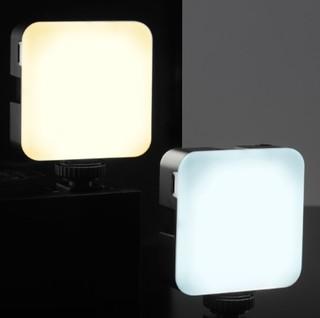 TELESIN 68珠迷你LED彩色补光灯 白色 两只装