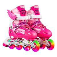 儿童溜冰鞋全套可调节大小码专业滑冰轮滑鞋初学者女童男童旱冰鞋