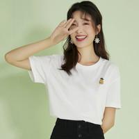 Puella 2A11026SW 菠萝刺绣短袖T恤