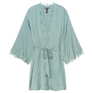VICTORIA'S SECRET 维多利亚的秘密 11176719 缎面舒适蕾丝饰边系带睡袍