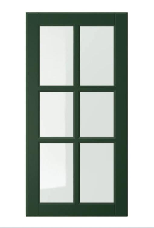 BODBYN 伯德比 玻璃柜门 深绿色 40x80 厘米