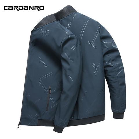 Cardanro 卡丹路 卡丹路夹克男春秋新款商务休闲棒球服男士外套中青年韩版潮流外衣
