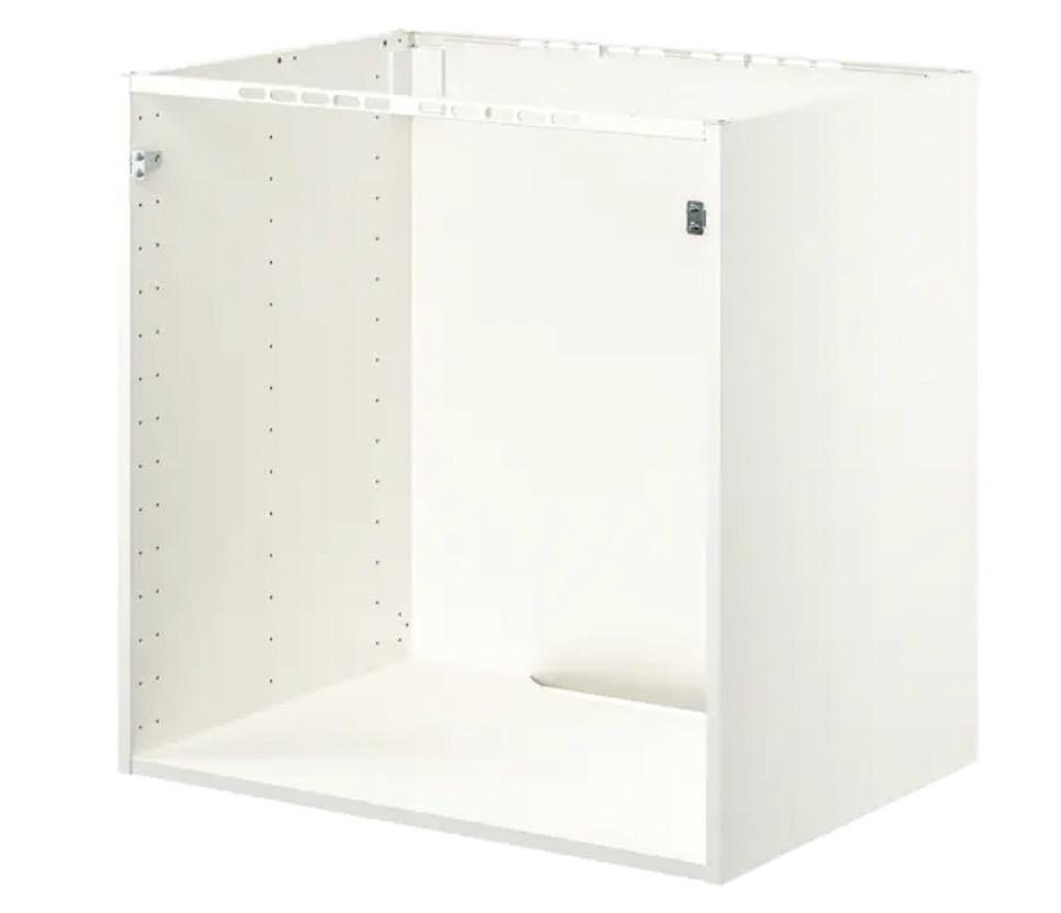 METOD 米多 落地柜 可嵌入设备/水槽 白色 80x60x80 厘米