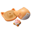 zomo B站联名多色猫爪 ABS+硅胶+金属 注塑 OEM高度 键帽